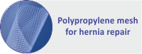 Polypropylene mesh for hernia repair