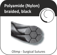 Polyamide (Nylon) braided, black