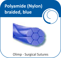 Polyamide (Nylon) braided, blue